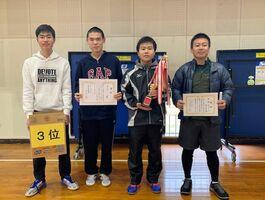 第42回伊万里市東山代町民卓球大会団体3位の里区