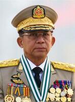 ミャンマー国軍のミン・アウン・フライン総司令官(ロイター=共同)