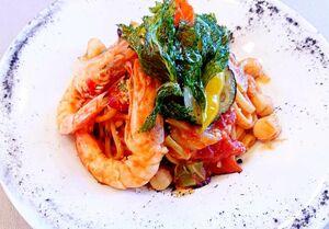 さがレトロ館では、イタリア料理を味わう(提供写真)