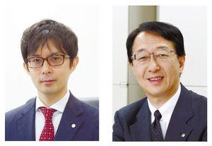講師の松瀬寿和さん(左)と佐野康隆さん