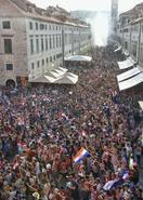 クロアチア観光地、敗北にも笑顔