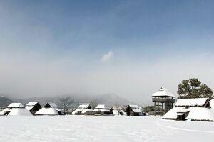 雪景色の吉野ケ里歴史公園
