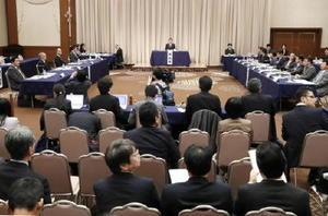 衆院特別委が札幌市内で開いた、TPPに関する地方公聴会=26日午後
