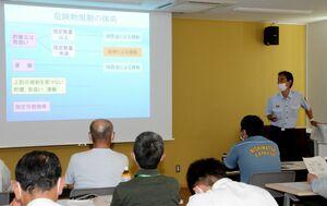 危険物の安全な取り扱いについて学んだ安全協会の防災研修会=有田町の有田消防署