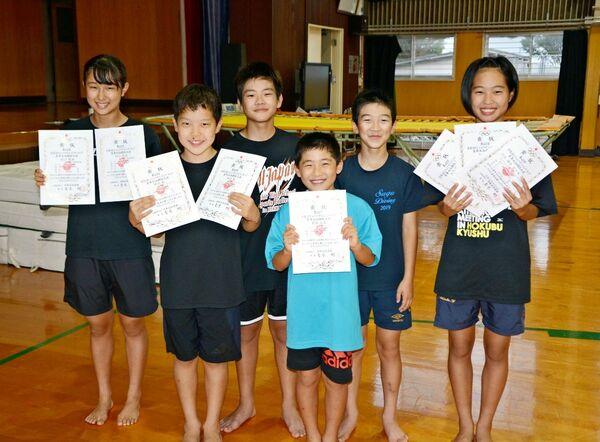 飛び込み全国大会、出場全種目で入賞 佐賀ダイビングクラブ4選手