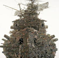 「再生」(2001年、紙にペン、インク 162×162センチ、浜松市美術館蔵(c)IKEDA Manabu