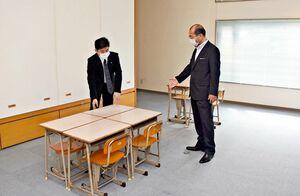 上峰町子ども支援センターの教室。子どもたちが学校復帰できるようさまざまな支援を行う=上峰町坊所