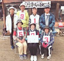 第336回武内各町GB大会で優勝した大野梅チーム
