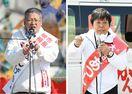 <神埼市長選>松本、大仁田両候補が出陣式
