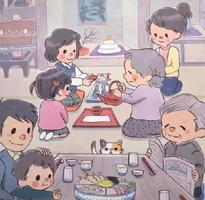 野田みちこさん「ちいさいわたしのお正月」