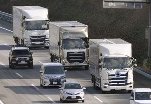 自動運転の隊列トラック