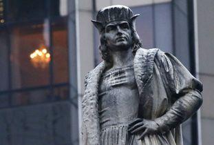 コロンブス像の存続決定