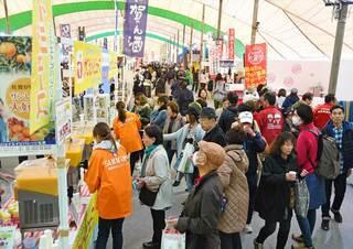 バルーンフェスタ うまかもん市場など 県産品使った料理や物産品販売