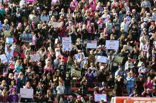 ラスベガスで大統領への抗議集会