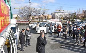 紀元節復活反対などを訴えた佐賀地区平和運動センターの集会=佐賀市の自治労会館