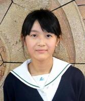 中学の部最優秀賞・弘学館中3年の福ひなのさん