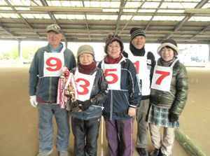 温泉GB12月例会で優勝した木塚チーム