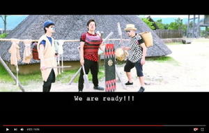 吉野ケ里歴史公園で撮影したミュージックビデオの一場面