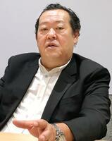 インタビューに応じるアマゾンジャパンのジェフ・ハヤシダ社長