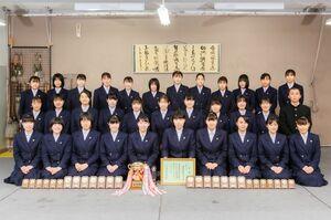 第25回全日本高校書道コンクールで最優秀校に輝いた佐賀北高=佐賀市の同校