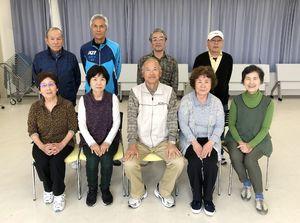 佐賀江北ビッキー支部スポーツ吹矢4月定例会の参加者