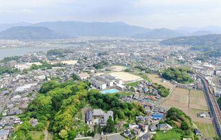 <空さんぽ 学校のある風景(22)>唐津商業高校周辺