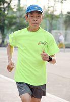全日本ランキング男子70歳の部で1位になった財前廣和さん=佐賀市の県総合運動場