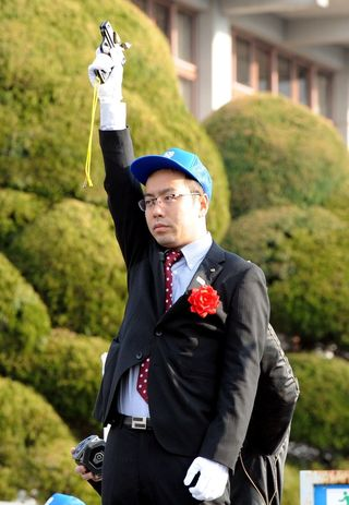 県内一周第2日 嬉野新市長が初スターター