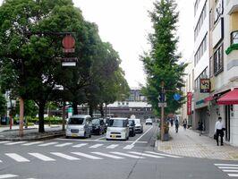 佐賀市の駅前中央通り=佐賀市