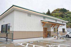 新しく完成した久間地区のコミュニティセンター=嬉野市塩田町