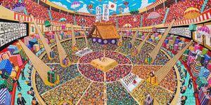ミヤザキケンスケさん「SUMO Festival」(180・2センチ×360・2センチ)