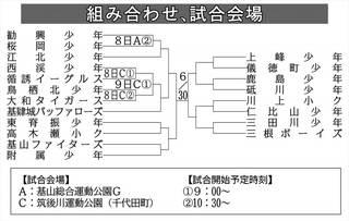 全日本学童軟式野球・佐賀県大会 6月8、9日の日程決まる