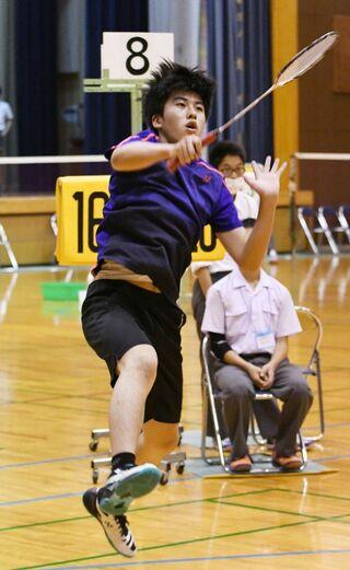 <SSP杯第3日・選手ひと言>バドミントン男子 一番ヶ瀨蓮(三養基)
