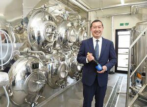 クラフトビール工場を新設したコトブキテクレックスの松本憲幸社長=佐賀市諸富町