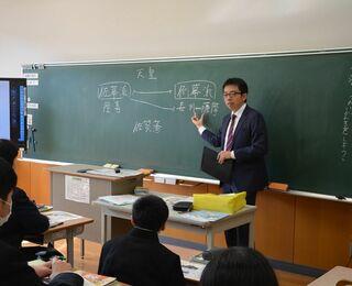 さが維新塾(25)小中一貫校松梅校中学部(佐賀市) で出前授業