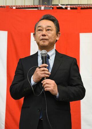 <基山町長選>落選の久保山氏「夢実現できず悔しい」