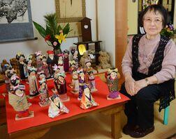 「楽しい人形づくりは至福の時間」と話す北村和子さん=鹿島市内