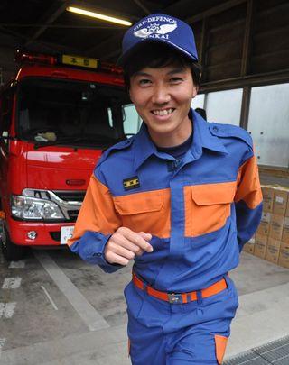 新入団員紹介(14)玄海町消防団本部 美間坂幹(もとき)さん 29歳