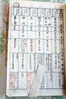 大隈重信が青銅鏡を寄付したことを記録した田島神社の宝物台帳