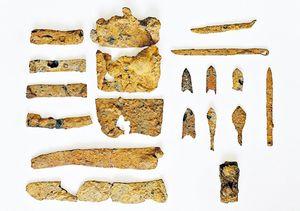 内精遺跡で出土した鉄製品の数々