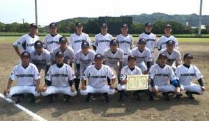 天皇賜杯第71回全日本軟式野球大会県予選 準優勝のひらまつ病院