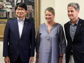被爆題材映画の主演、長崎を訪問