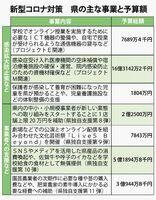 佐賀県の新型コロナ緊急経済対策 主な事業内容と予算額