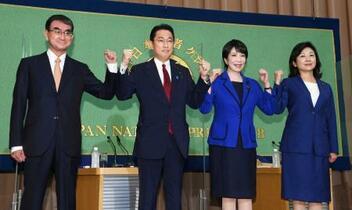 総裁選、河野氏が党員支持で優位