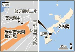 沖縄・米軍普天間飛行場、普天間第二小、普天間中