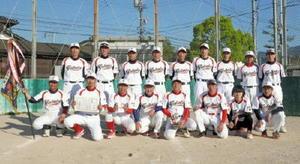 ソフトボール 第59回浜玉町内ソフトボール大会で優勝した横田上チーム
