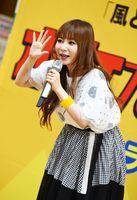 透き通った声を響かせる歌手の中川翔子さん=佐賀市のモラージュ佐賀
