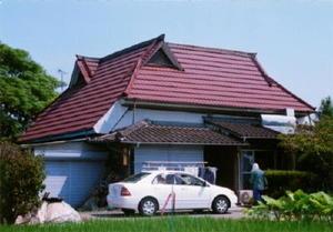 屋根の形式はくど造りで、強風にも耐えられるように工夫されている=佐賀市西与賀町元相応