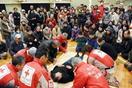 災害時の救護と心得学ぶ 西与賀校区が防災訓練