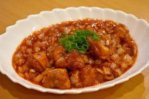 食彩瑠璃の「鶏のチリソース」